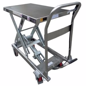 Picture of 150Kg Stainless Steel Scissor Lift Table 1220mm Max Height